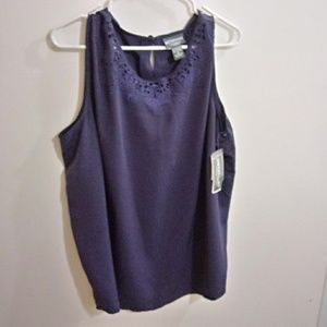 Notations top purple new w tag size 2xl